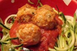 "My Raw Zucchini Noodles with ""UnMeatballs"""