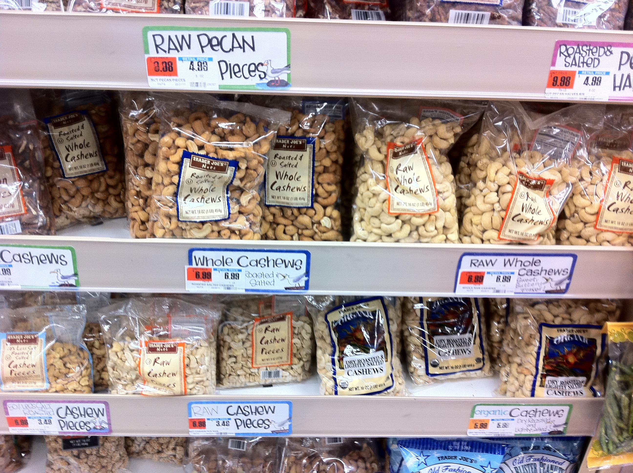 Trader Joe's Raw Nuts